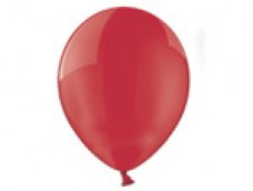 Baloni 29cm, caurspīdīgi, sarkani, BELBAL, 100 gab.