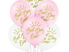 "Baloni ""Best Day Ever"" - laimīgākā diena Belbal, 27cm"