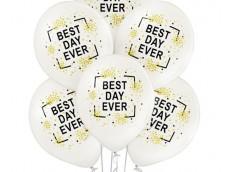 """Baloni """"Best Day Ever"""" - laimīgākā diena pērļu, Belbal, 29cm"""