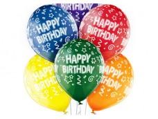 "Baloni ""Happy Birthday!"", Belbal, kristāla, 29cm"