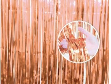 Folijas aizkars 90x240cm rozā zelta