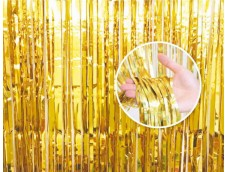 Folijas aizkars 90x240cm zelta