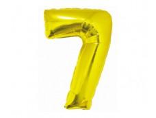 Folijas balons 76cm XL - cipars 7, SMART, zelta