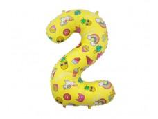 "Folijas balons 78cm XL - cipars 2, ""Special Party"""