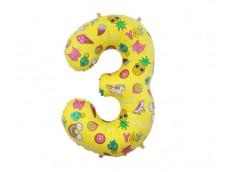 "Folijas balons 78cm XL - cipars 3, ""Special Party"""