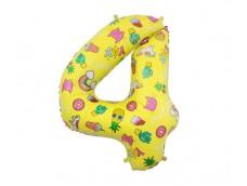 "Folijas balons 78cm XL - cipars 4, ""Special Party"""