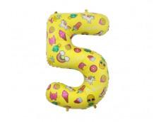 "Folijas balons 78cm XL - cipars 5, ""Special Party"""