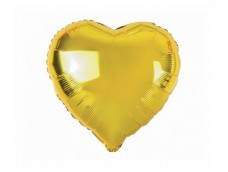 Folijas balons sirds, zelta, 46cm
