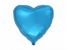 Folijas balons sirds, zila, spīdīga, 46cm, Flexmetal