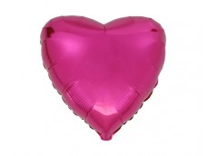 Folijas balons sirds, rozā, tumši, spīdīga, 46cm, Flexmetal