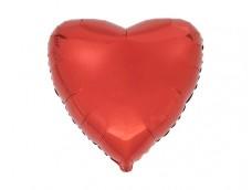 Folijas balons sirds, sarkana, spīdīga, 46cm, Flexmetal