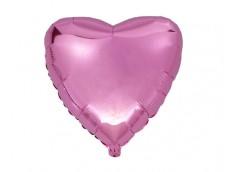 Folijas balons sirds, rozā, spīdīga, 46cm, Flexmetal