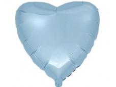 Folijas balons sirds, zila, gaiši, maigi, Flexmetal, 81cm, Jumbo