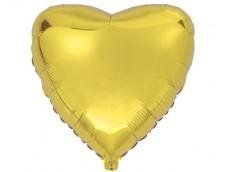 Folijas balons sirds, zelta, Flexmetal, 81cm, Jumbo