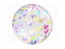 "Folijas balons 46cm - bumba, Crystal ""Sirsniņas"""