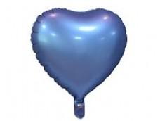Folijas balons sirds, zila, tumši, matēta, 46cm