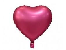 Folijas balons sirds, rozā, tumši, matēta, 46cm