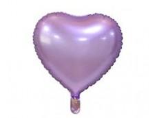 Folijas balons sirds, lillā, matēta, 46cm