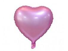 Folijas balons sirds, rozā, matēta, 46cm