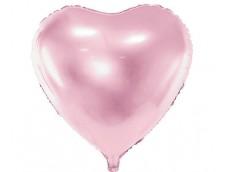 Folijas balons sirds, rozā, gaiši, 61cm