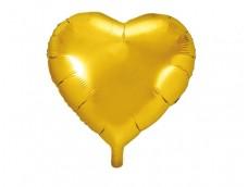 Folijas balons sirds, zelta, 45cm
