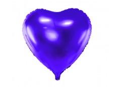 Folijas balons sirds, lillā, tumši, 46cm