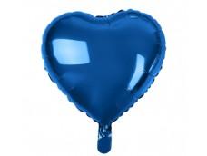 Folijas balons sirds, zila, tumši, spīdīga 46cm