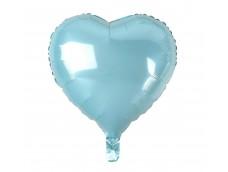 Folijas balons sirds, zila, gaiši, spīdīga 46cm