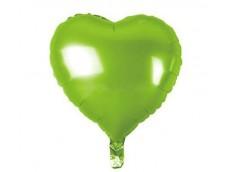 Folijas balons sirds, zaļa, gaiši, 46cm