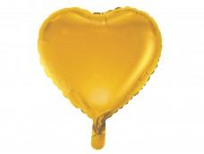 Folijas balons sirds, zelta, matēta, 46cm