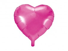 Folijas balons sirds, rozā, tumši, spīdīga, 45cm