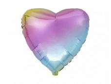 Folijas balons sirds, varavīksne, 46cm, Flexmetal