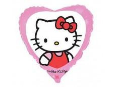 "Folijas balons 46cm, sirds, ""Hello Kitty in the window"""