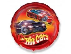 "Folijas balons 48cm, aplis, ""Mašīnas - Hot Cars"""