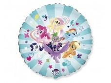 "Folijas balons 48cm, aplis, ""MY LITTLE PONY TEAM"""