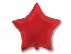 Folijas balons zvaigzne, sarkana, spīdīga, 48cm, Flexmetal