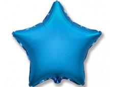 Folijas balons zvaigzne, zila, spīdīga, 81cm, Flexmetal