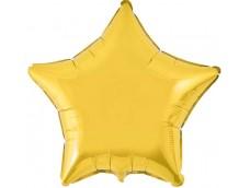 Folijas balons zvaigzne, zelta, spīdīga, 81cm, Flexmetal