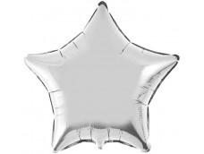Folijas balons zvaigzne, sudraba, spīdīga, 81cm, Flexmetal