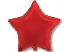 Folijas balons zvaigzne, sarkana, spīdīga, 81cm, Flexmetal