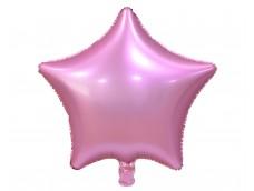 Folijas balons zvaigzne, rozā, matēta, 48cm