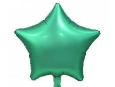 Folijas balons zvaigzne, zaļa, mint, matēta, 48cm