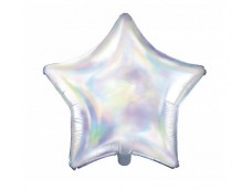 Folijas balons zvaigzne, varavīksne, gaišā, 47cm