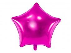 Folijas balons zvaigzne, rozā, tumši, fuksiju, spīdīga, 47cm
