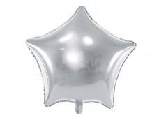 Folijas balons zvaigzne, sudraba, 47cm