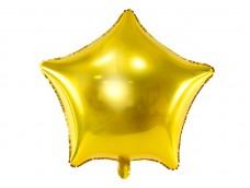 Folijas balons zvaigzne, zelta, spīdīga, 47cm