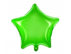 Folijas balons zvaigzne, zaļa, caurspīdīga, 47cm