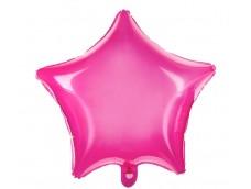 Folijas balons zvaigzne, rozā, caurspīdīga, 47cm