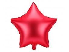 Folijas balons zvaigzne, sarkana, satīna, 47cm