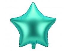 Folijas balons zvaigzne, zaļa, satīna, 47cm